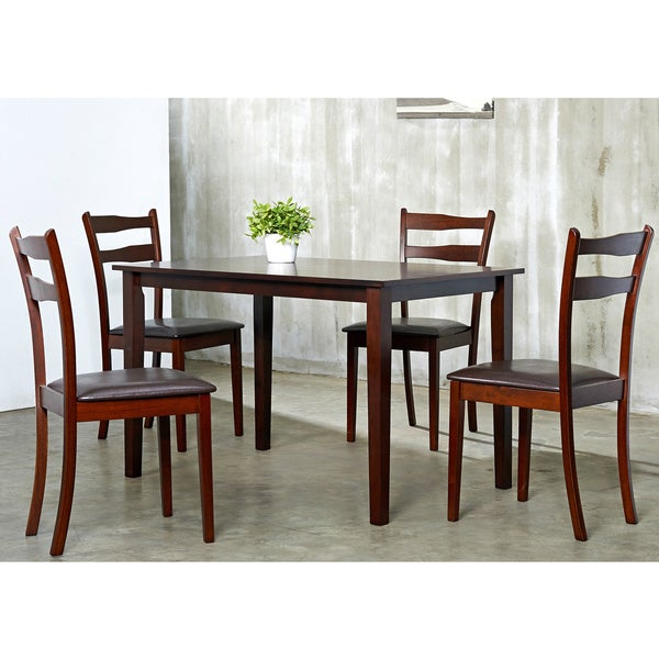 Callan 5 piece Dining Room Furniture Set Free Shipping Today