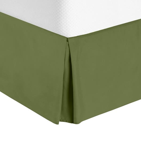 Clara Clark Pleated Bed Skirt 14 Inch Tailored Drop Luxury Microfiber Dust Ruffle Includes 8 Pins Overstock 29653900