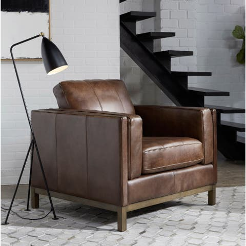 Summit Brown Top Grain Leather Chair