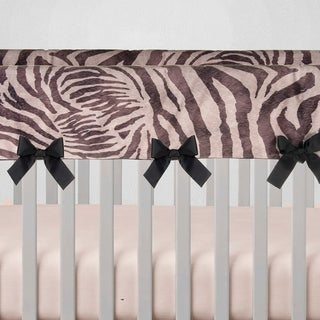 Glenna Jean Baby Crib Convertible Long Rail Guard Protector Black and White Zebra