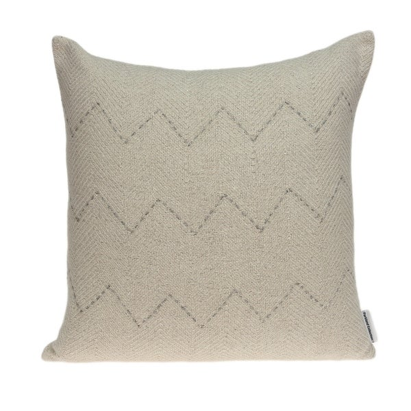 Parkland Collection Diana Transitional Beige Pillow Cover With Down Insert. Opens flyout.