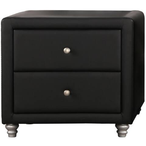 Upholstered 2 Drawer Nightstand