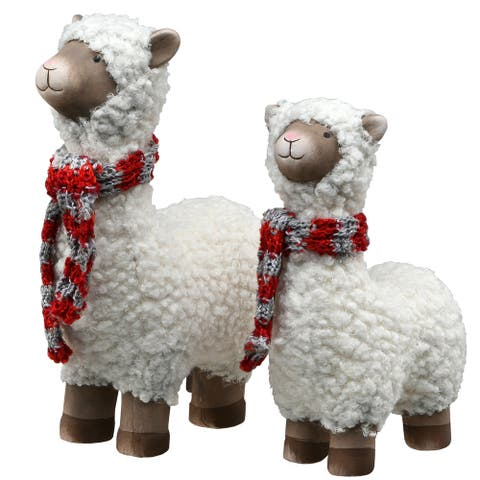 Wooly Sheep Holiday Decor