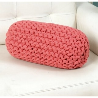 Lychee Knitted Cotton Neck Roll Bolster Pillow