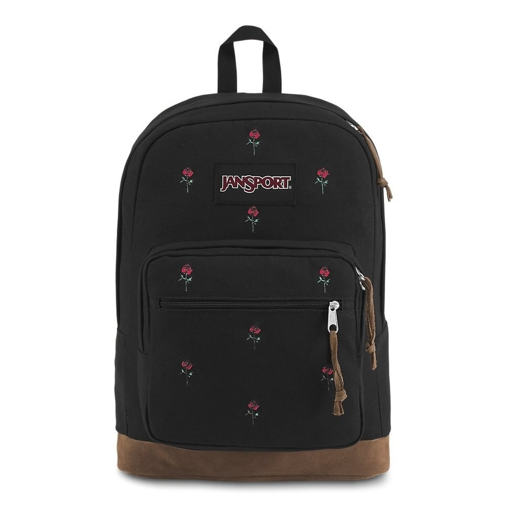 Jansport Right Pack Backpack Including 15 inch Laptop Sleeve - Embroidered Roses