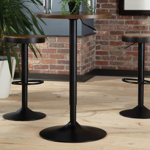 Carbon Loft Mazzaro Industrial Height Adjustable Pub Table