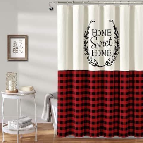 Lush Decor Home Sweet Home Wreath Shower Curtain