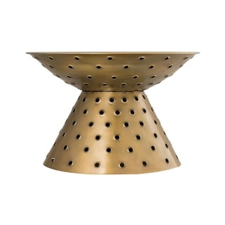 The Curated Nomad Willborough Brass Finish Cocktail Table