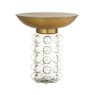 Bubble Glass and Brass Side Table