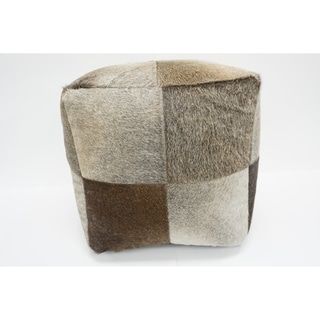 Link to Carbon Loft Colegrove Leather Pouf Similar Items in Living Room Furniture