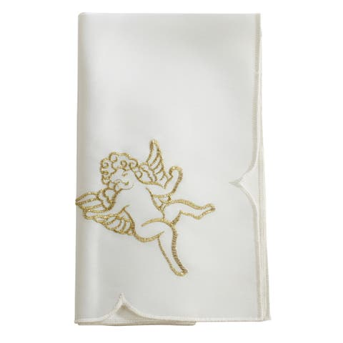 Embroidered Napkin with Cupid Design (Set of 4)