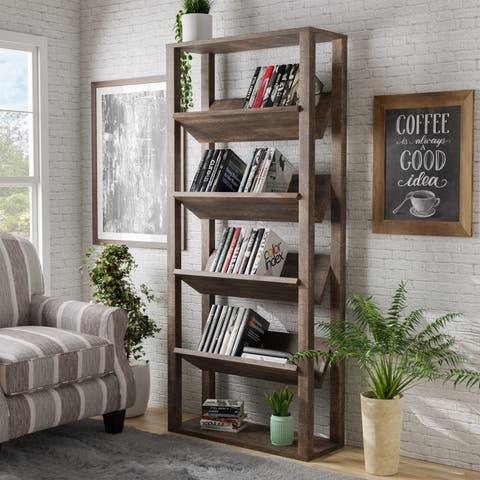 Alanzo Contemporary 5-Shelf Bookcase by FOA