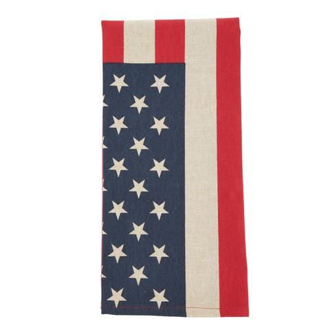 Cotton Dish Towels With US Flag Design (Set of 4)