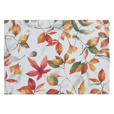 Placemats with Fall Leaf Design (Set of 4)