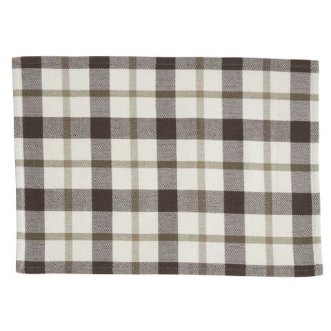 Plaid Design Cotton Placemats (Set of 4)