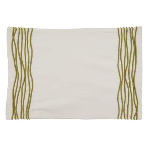 Cotton Placemats with Line Design (Set of 4)
