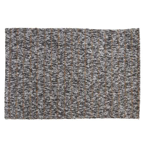 Tweed Placemats with Striped Design (Set of 4)