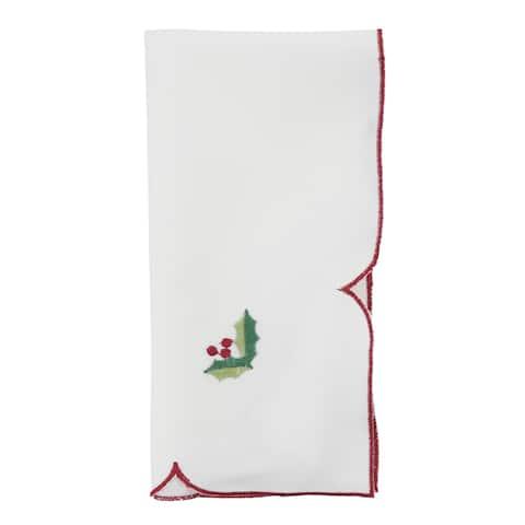 Embroidered Christmas Table Napkins (Set of 4)