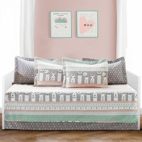 Lush Decor Llama Stripe 6 Piece Daybed Set
