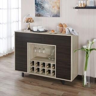 Furniture of America Pike Contemporary Oak 47-inch Multi-storage Buffet