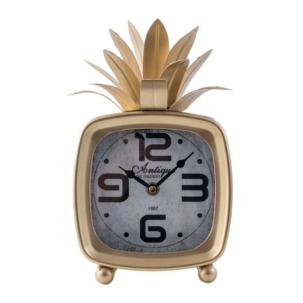 Gold 10-inch Vintage Pineapple Clock