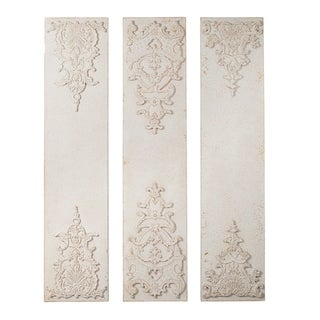 Antique White 70-inch Wall Décor Panels (Set of 3)