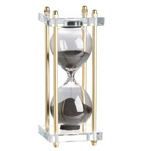 Modern Chic 8-inch Black and Gold Hourglass
