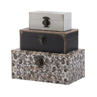 Black and White Decorative Boxes by Anthony Venetucci (Set of 3)