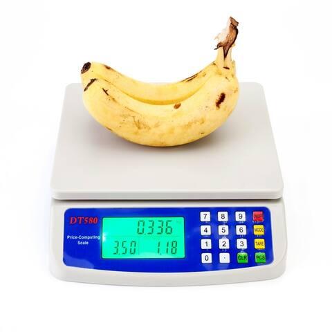 30kg/1g Digital Kitchen Scale Food Scale, White