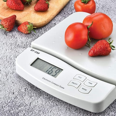 25kg/1g Digital Kitchen Scale Food Scale, White