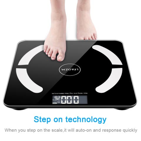Bluetooth Smart Digital Weighing Scale Body Fat Scale, 400Lbs