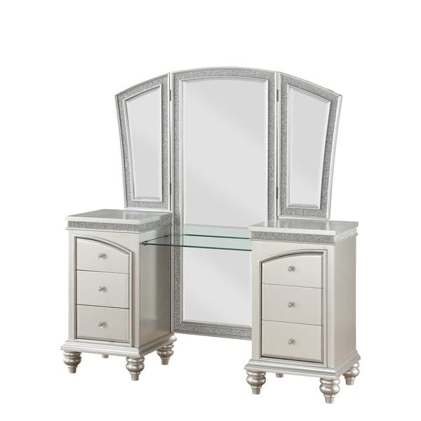 ACME Maverick Vanity Desk in Platinum. Opens flyout.
