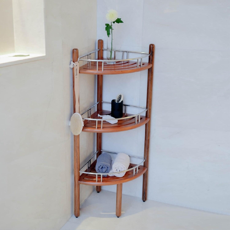 Talinen 3 Tier Bathroom Corner Shelf