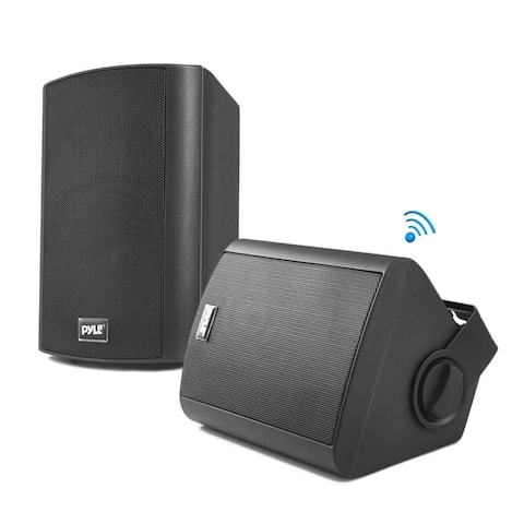 Pyle Pair of Wall Mount Waterproof & Bluetooth 6.5 inch Indoor Outdoor Speaker System, with Loud Volume and Bass.