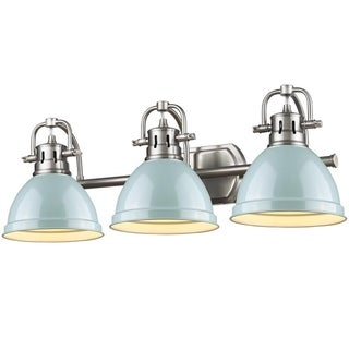 Link to Golden Lighting Pewter Seafoam Duncan Bath Vanity Light (As Is Item) Similar Items in As Is