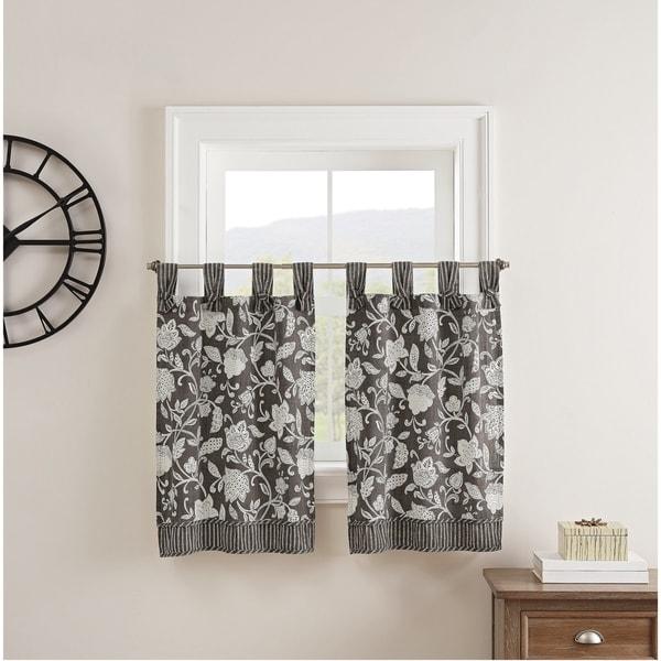 Waverly® Stencil Vine Window Tier Pair