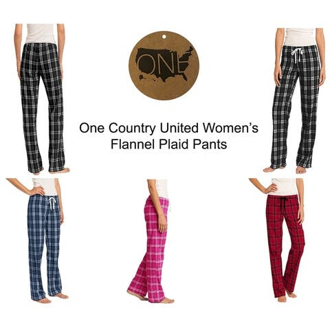One Country United Women's Flannel Plaid Pants