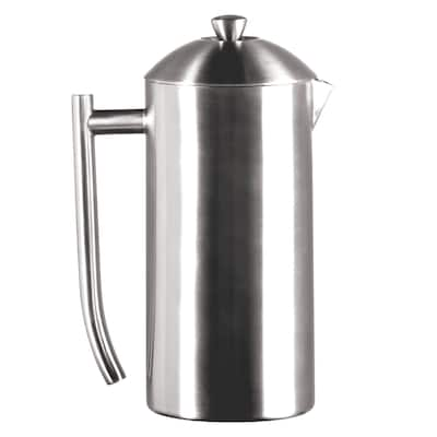 Frieling Double Wall Stainless Steel 36-Ounce French Press Coffee Maker Brushed