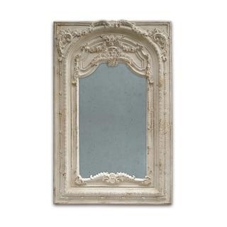 Antique White 73-inch Scroll Fauna Floor Mirror