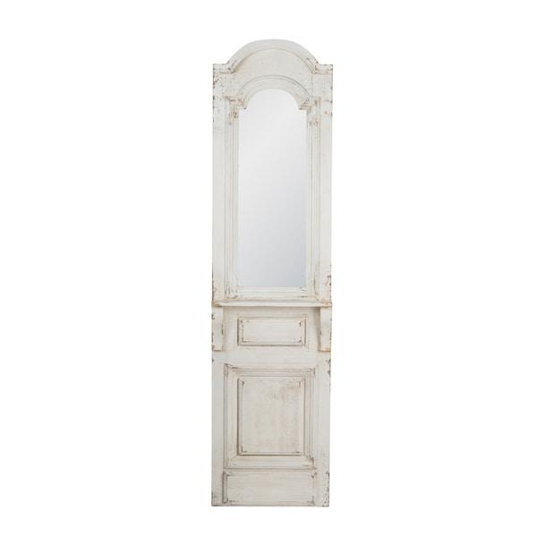 Vintage Distressed White 71.5-inch Mirror