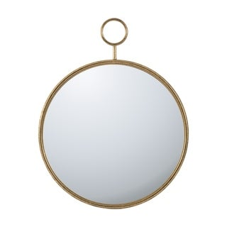Gold 26-inch Framed Circular Mirror Wall Décor