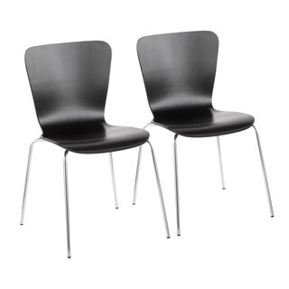 Link to Bentwood Contemporary Stackable Dining Chairs (Set of 2) Similar Items in Dining Room & Bar Furniture