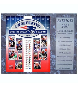 New England Patriots 2007 12x15 plaque (16-0)