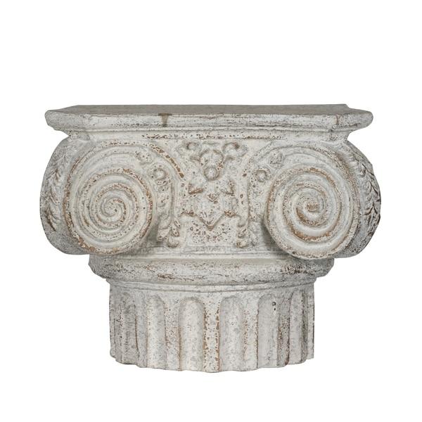 Classic Vintage Antique White Roman Column Wall Shelf