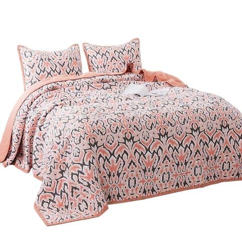 Porch & Den Merle Floral Print 3-piece Oversized Bedspread Set