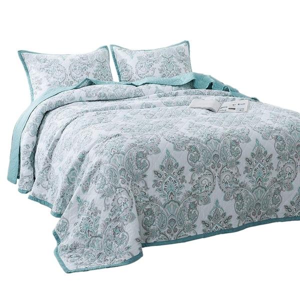 Porch & Den Merle Floral Print 3-piece Oversized Bedspread Set. Opens flyout.