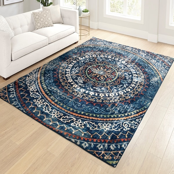 "Orian Meadow Newton Navy Area Rug - 5'3"" x 7'6"""
