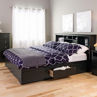Broadway Black King Bookcase Headboard