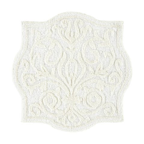 Five Queens Court Celina Medallion Sculpted Bath Rug