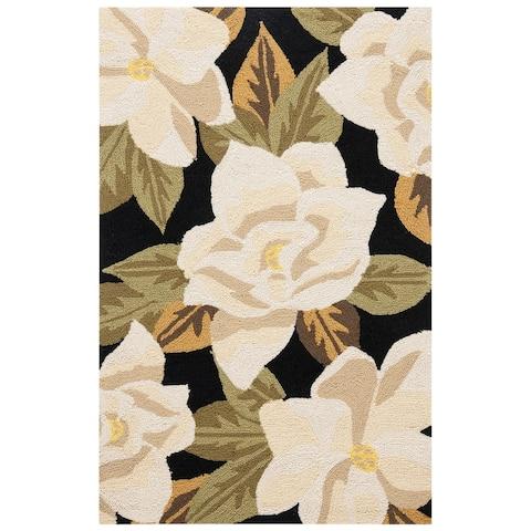 SAFAVIEH Handmade Monogram Mala Casual Floral Rug